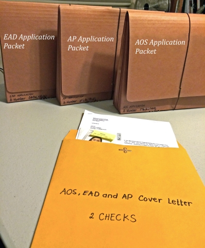 K1 K2 Application For AOS EAD And AP In US