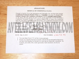 Removal of Condition Application Slip