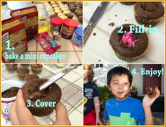How to make gender reveal cupcakes?