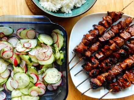 Pork BBQ and Veggie Salad