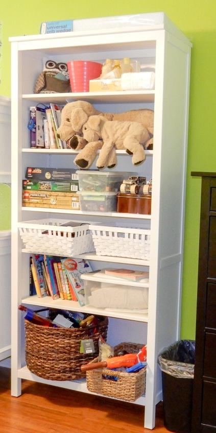 Kid's organization shelf