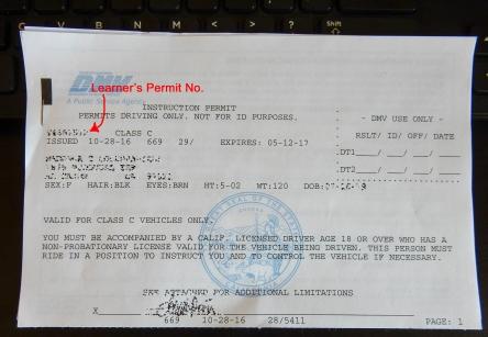 California DMV Learner's Permit