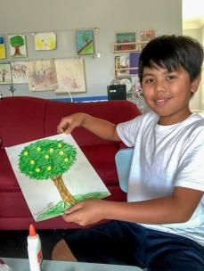 Raymond with his Lemon Tree Art